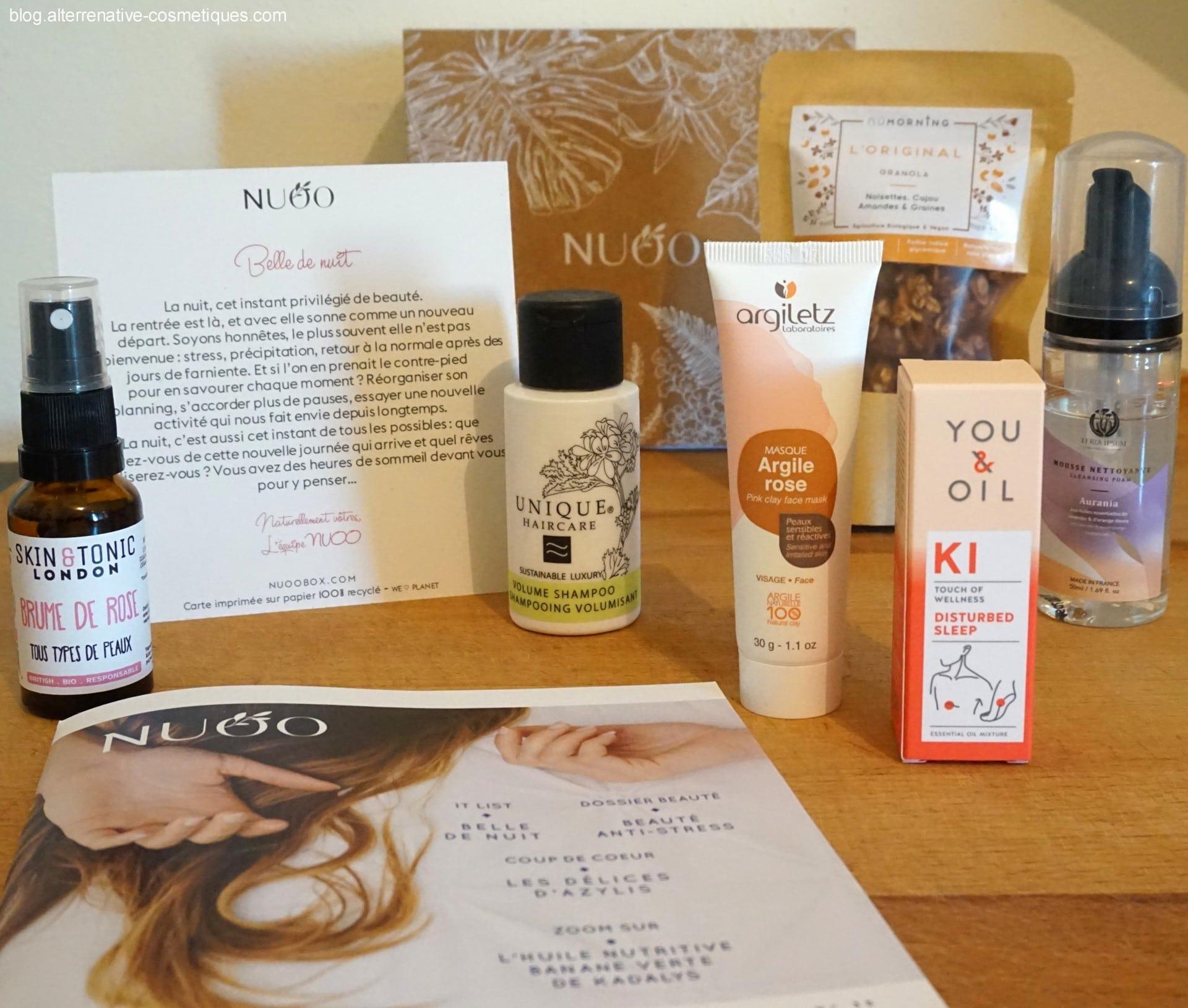 cosmétiques naturels nuoo box septembre