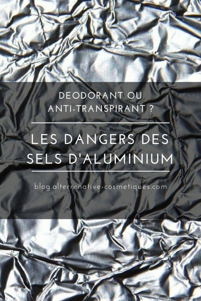 deodorant dangers sels aluminium