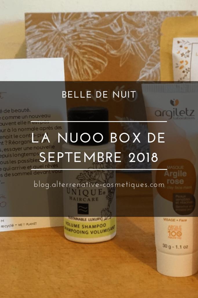 nuoo box septembre 2018 belle de nuit